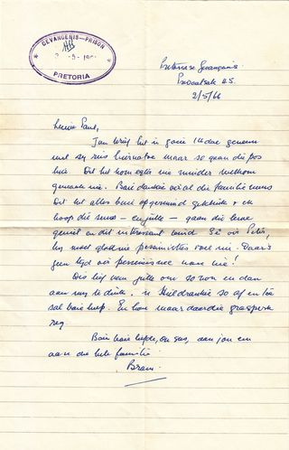 Bram Fischer letter to PE Janisch 2_5_1966 (1)